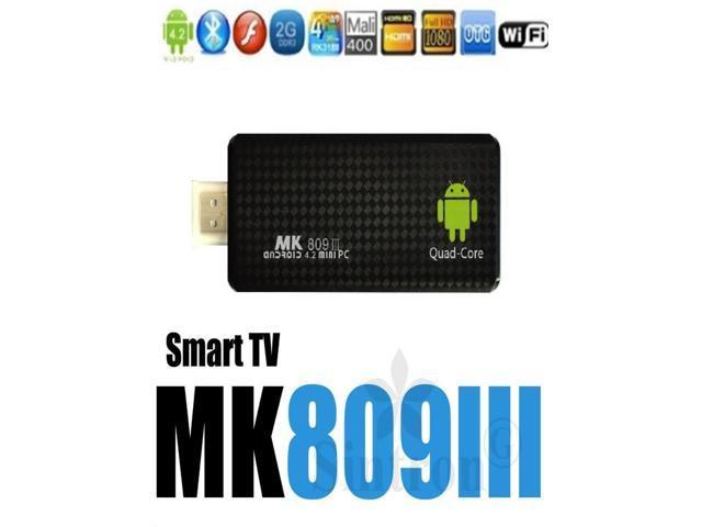 MK809III Quad Core 1.6G 3D iptv mini pc pcs RK3188 Androind 4.2 Smart TV Stick box 2G 8G MK809 III Bluetooth HDMI