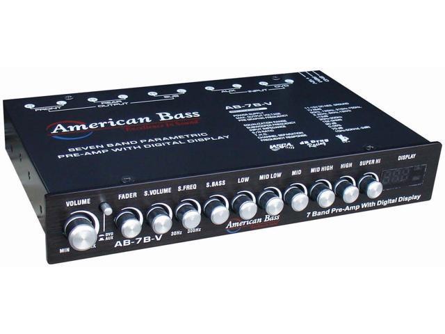 American Bass AB7BV 7 Band Parametric Equalizer Digital Display