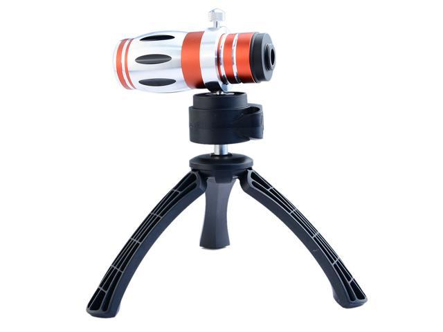 Apexel Detachable Optical 12.5x Zoom Aluminum Telephoto Telescope Camera Lens with Case and Tripod for iPhone 5 5G 5S Red