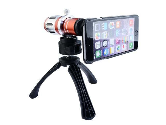 Apexel Detachable Optical 17x Zoom Aluminum Telephoto Telescope Camera Lens with Case and Tripod for iPhone 5 5G 5S Red