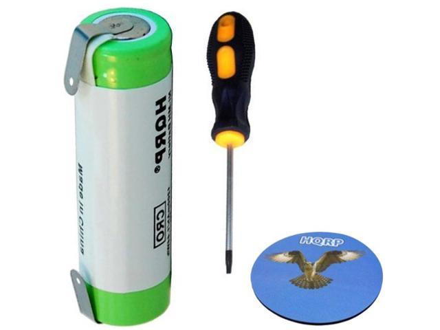 HQRP Battery for Philips Norelco Shaver / Razor + Screwdriver & HQRP Coaster