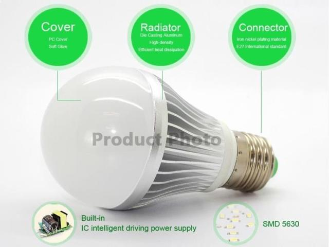 Shine Glory Lighting 5pcs A19 LED bulbs/E26/ 10W/ 75W replacement /700lm /Warm White 3000K /FCC approved