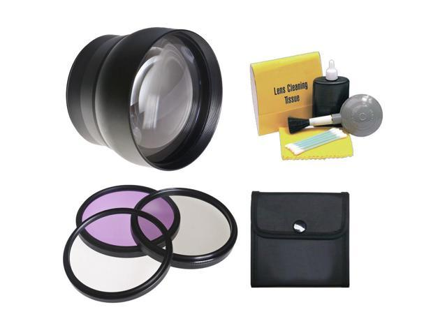 Nikon P530 2.2x High Definition Super Telephoto Lens + Lens/Filter Adapter + 58mm 3 Piece Filter Kit  + Nw Direct 5 Piece Cleaning Kit