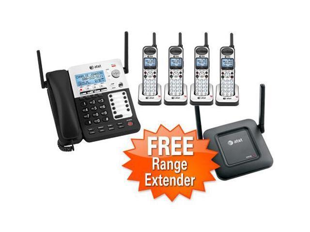 ATT SB67138 + (3)SB67108 + (1)SB67128 4 Line Corded/Cordless Phone