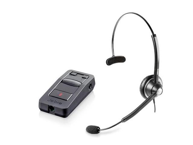 Jabra BIZ 1900 Mono NC Headset & Link 850 Amplifier w/ Pivoting Boom Arm