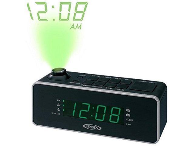jensen jenjcr235b dual alarm projection clock radio. Black Bedroom Furniture Sets. Home Design Ideas