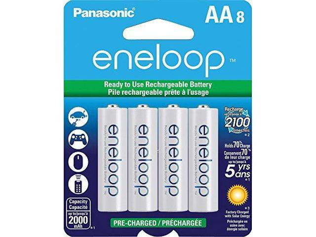 Panasonic SPKBK3MCCA8BAW AA New 2100 Cycle Ni-MH Pre-Charged Rechargeable Batteries