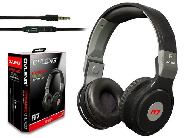 stereo Headphone Earphone Gaming Headset with Microphone black