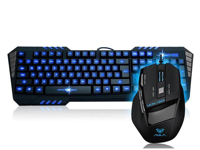 Brand New Aula So Evil LED Backlit Illuminated USB Wired Ergonomic Gaming & Multimedia Keyboard