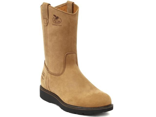 "Georgia Men's 11"" Pull On Farm & Ranch Wellington CC Work Boot 10 M"