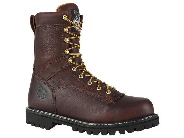 "Georgia Men's Logger  8"" Low Heel Leather Work Boot 7.5 M"