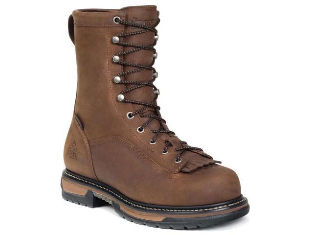 Rocky Men's Ironclad 9 Brown LTT Waterproof Leather Boots 10 M