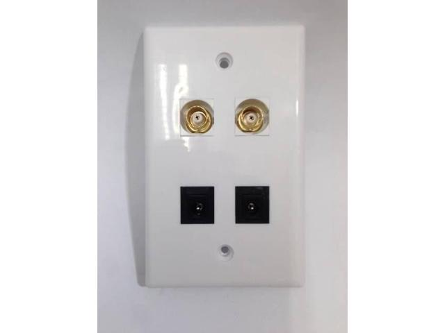 Custom Wall Plate Covers: CERTICABLE CUSTOM WHITE WALL PLATE CCTV CAMERA 2- 2.1mm