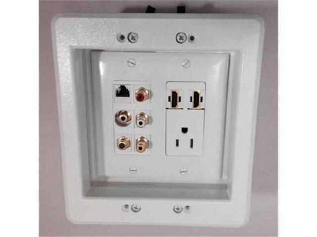 Custom Wall Plate Covers: CERTICABLE CUSTOM DESIGNED 110V AC POWER OUTLET- 2 HDMI