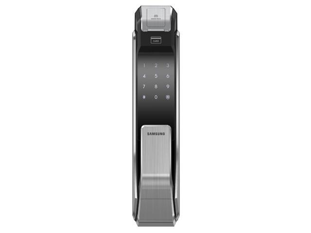 Samsung Ezon SHS-P718 Smart Doorlock  New Concept in Door Locks - New Fingerprint Digital door lock  •Easy access using push- pull handle •Biometric access system