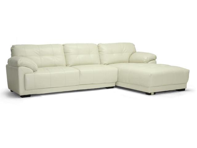 Baxton Studio DeCarlo Cream Leather Modern Sectional Sofa  : A4C612014111279098804 from www.newegg.com size 640 x 480 jpeg 10kB