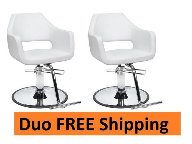 duo salon styling chairs 2 richardson wht for beauty salon furniture
