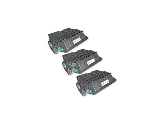 LD © Remanufactured Replacement Laser Toner Cartridges for Hewlett Packard C8061X (HP 61X) High-Yield Black (3 Pack)