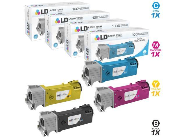 LD © Compatible Xerox Phaser 6500 4PK Toner Cartridges Includes: 1 106R01597 Black, 1 106R01594 Cyan, 1 106R01595 Magenta, & 1 106R01596 Yellow