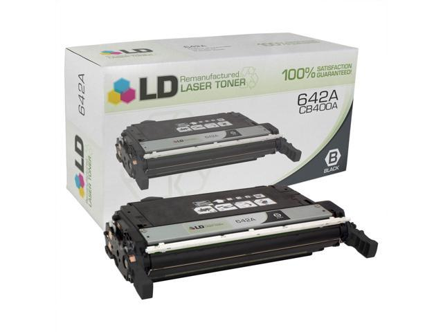 LD © Remanufactured Replacement Laser Toner Cartridge for Hewlett Packard CB400A (HP 642A) Black