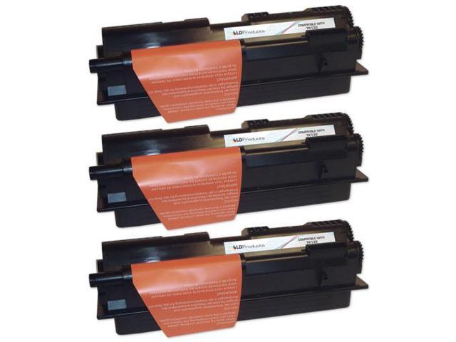 LD �� Compatible Kyocera Mita TK-132 Set of 3 Black Laser Toner Cartridges
