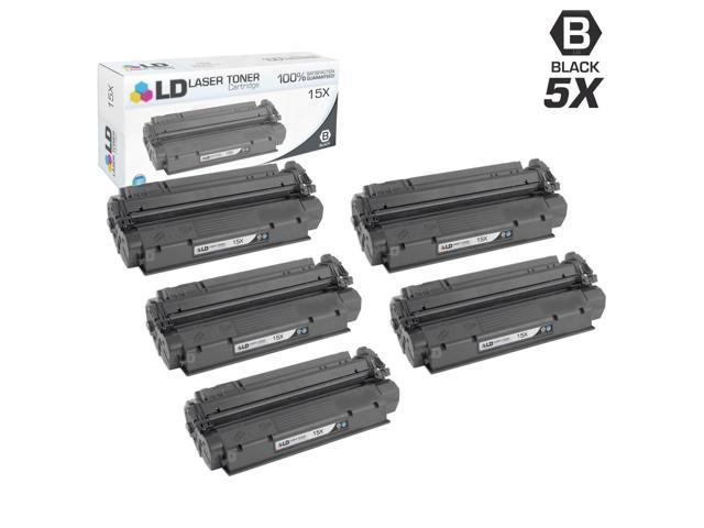 LD © Remanufactured Replacement Laser Toner Cartridges for Hewlett Packard C7115X (HP 15X) High-Yield Black (5 Pack)