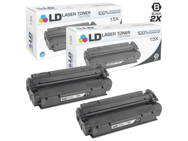 LD © Remanufactured Replacement Laser Toner Cartridges for Hewlett Packard C7115X (HP 15X) High-Yield Black (2 Pack)