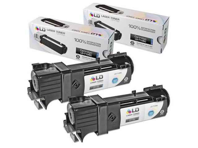 LD © Compatible Dell T106C  Set of 2 High Yield Black Toner Cartridges for 2130cn/2135cn Printers