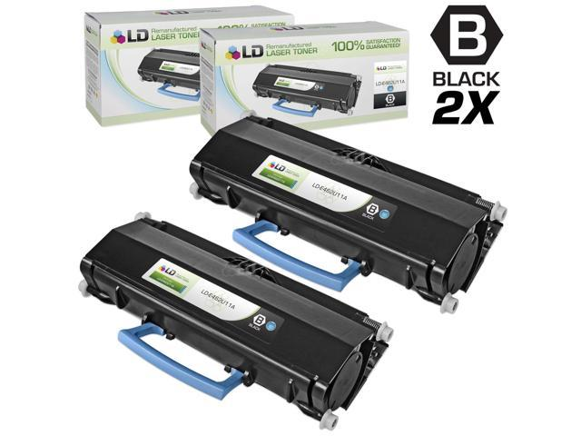 LD Compatible Lexmark E462U11A Set of 2 Extra High Yield Black Laser Toner Cartridges for E462 Printers