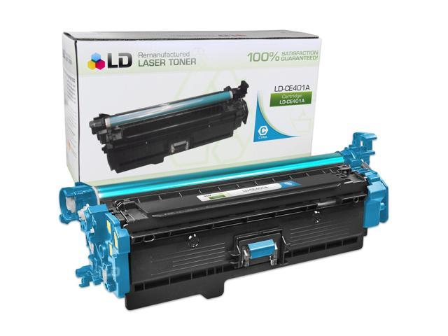 LD Remanufactured Replacement for HP CE401A / 507A Cyan Laser Toner Cartridge for the LaserJet 5500hdn, 5550dn, M551dn, 500 Color M551n, M551xh, MFP M575dn, MFP M575f, MFP M575c, MFP M570dn