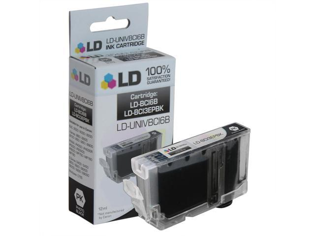 LD © Compatible Replacement for Canon BCI3ePBK Photo Black Inkjet Cartridge for use in Canon BJC, FAX, i Series, Multipass, PIXMA , and S Series Printers