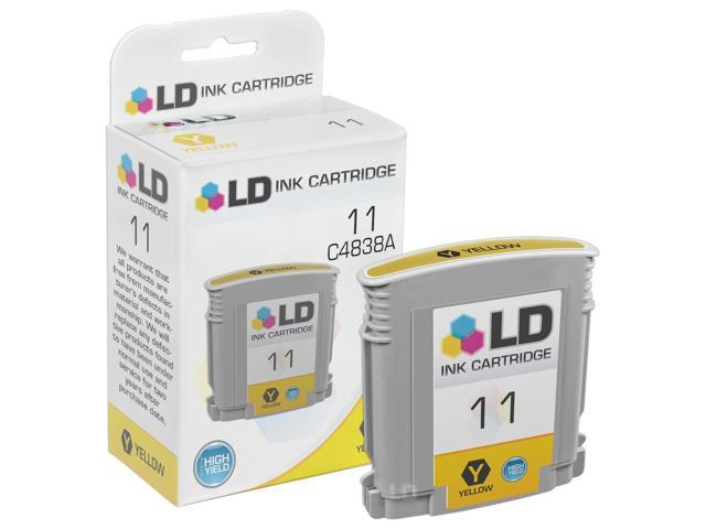 LD © Remanufactured Replacement for Hewlett Packard C4838AN (HP 11) Yellow Ink Cartridge for HP Business Inkjet, Color Inkjet CP, DesignJet, officeJet, & officeJet Pro Printers