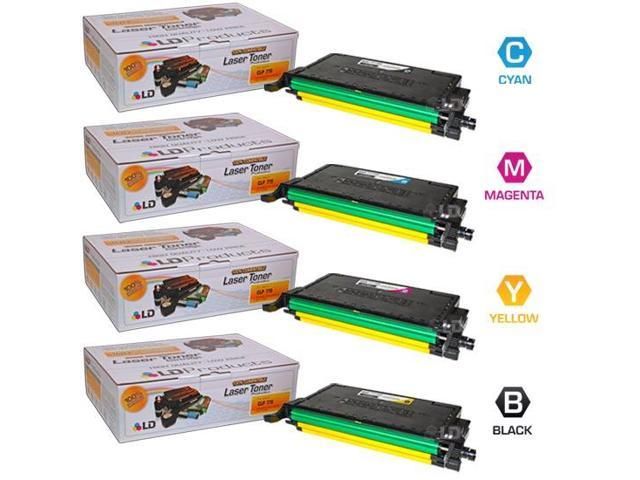 LD © Compatible Samsung CLP-770ND Set of 4 Toner Cartridges: 1 Black CLT-K609S, Cyan CLT-C609S, Magenta CLT-K609M, CLT-K609Y Yellow for use with Samsung CLP-770ND & CLP-775ND