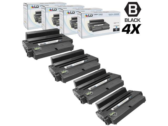 LD Compatible Samsung MLT-D205E Set of 4 Black Laser Toner Cartridgdes for ML-3712DW, ML-3712ND, SCX-5639FR & SCX-5739FW