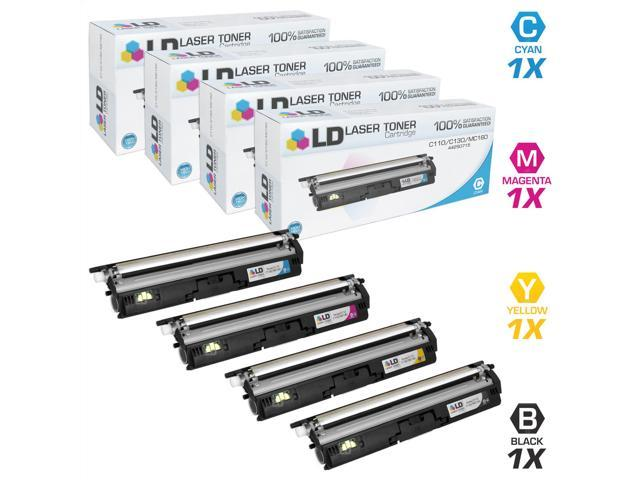 LD © Compatible Okidata Set of 4 High Yield Toner Cartridges: 1 44250716 Black, 1 44250715 Cyan, 1 44250714 Magenta, and 1 44250713 Yellow