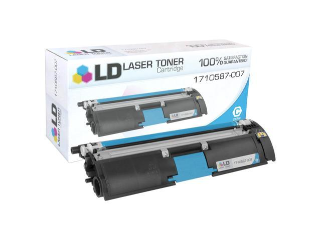 LD© Remanufactured Replacement for Konica-Minolta 1710587-007 Cyan Toner Cartridge for use in MagiColor 2400, 2400w, 2430dl, 2450, 2480, 2480MF, 2490, 2490MF, 2500w, 2530DL, 2550DN, 2550EN, 2590