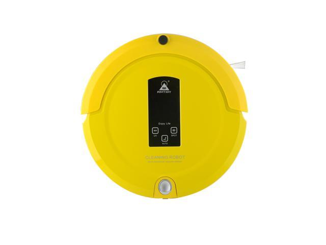 AmTidy A325 New Mini Robotic Vacuum Cleaner Uv Floor Cleaning Robot Vacuum Cleaner for Pet Hair Bagless Vacuum Carpet Cleaning Vacuum Factory best Warranty DIY Modular Design YELLOW