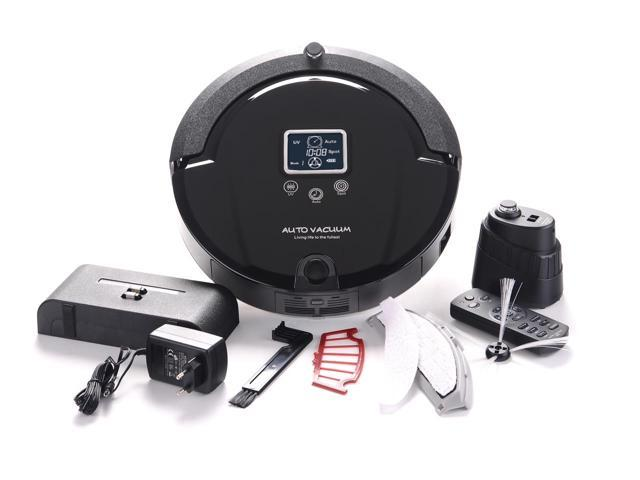 Amtidy Self-Recharging UV Lamp Disinfection A320 Robot Vacuum Cleaner - Black