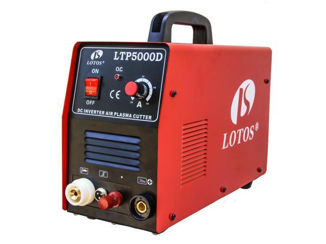 LOTOS LTP5000D Non-Touch Pilot Arc Plasma Cutter - 110/220VAC 1/2 Inch Clean Cut