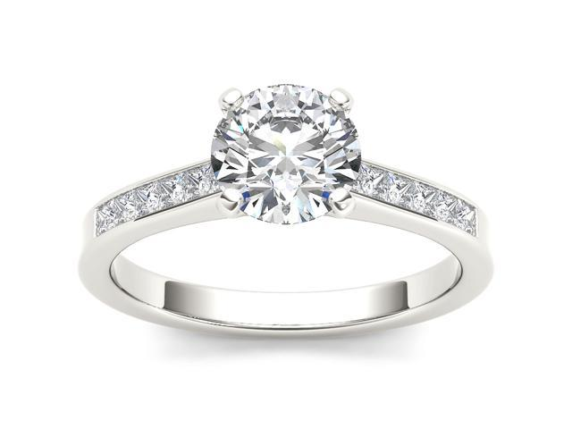 14k White Gold 1 1/4ct TDW Diamond Solitaire Engagement Ring (H-I, I2)