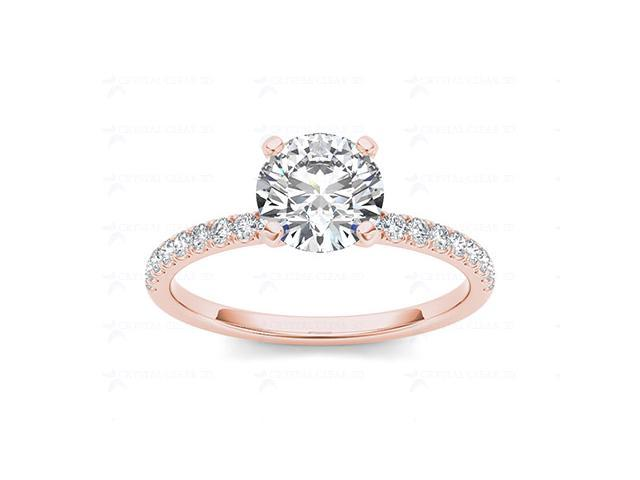 14k Rose Gold 1 1/4ct TDW Diamond Solitaire Engagement Ring (H-I, I2)