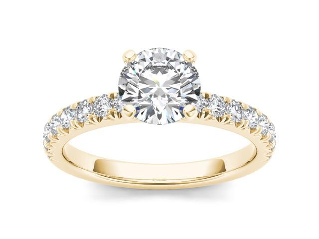 14k Yellow Gold 1 1/2ct TDW Diamond Solitaire Engagement Ring (H-I, I2)