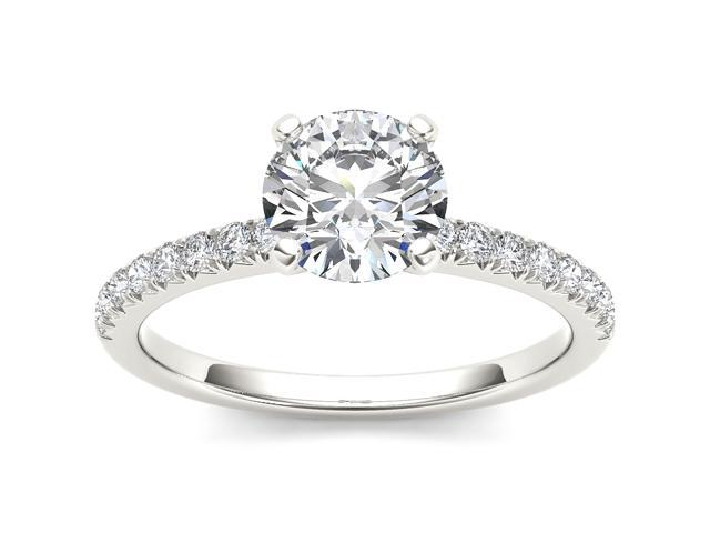14k White Gold 3/4ct TDW Diamond Solitaire Engagement Ring (H-I, I2)