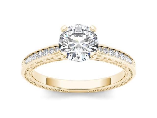 14k Yellow Gold 1ct TDW Diamond Solitaire Engagement Ring (H-I, I2)
