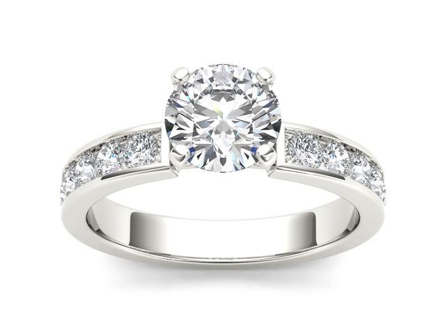 14k White Gold 1 1/2ct TDW Diamond Solitaire Engagement Ring (H-I, I2)