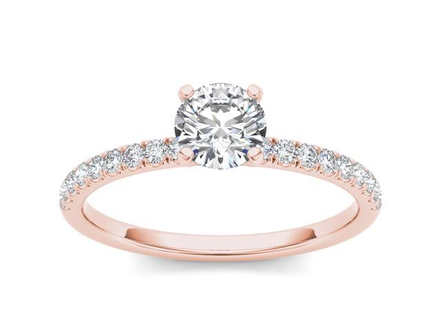 14k Rose Gold 1 1/4ct TDW Solitaire Diamond Engagement Ring (H-I, I2)