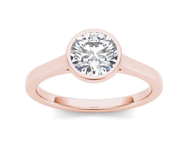 14k Rose Gold 1ct TDW Diamond Solitaire Engagement Ring (H-I, I2)