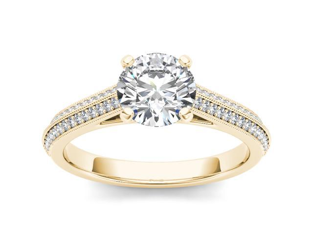 14k Yellow Gold 1 1/4ct TDW Diamond Solitaire Engagement Ring (H-I, I2)