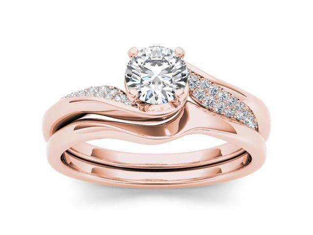14k Rose Gold 3/5ct TDW Solitaire Diamond Engagement Ring (H-I, I2)