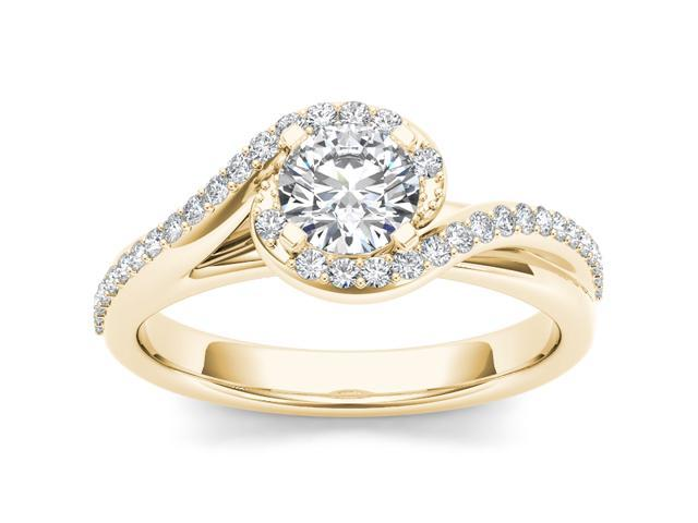 14k Yellow Gold 3/4ct TDW Diamond Solitaire Engagement Ring (H-I, I2)